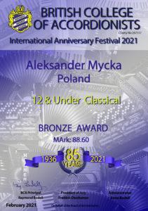 Międzynarodowy sukces akordeonistów w Wielkiej Brytanii.