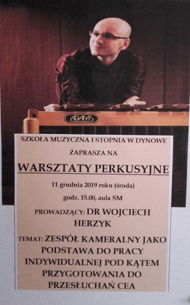 Zapraszamy wszystkich zainteresowanych na warsztaty Perkusyjne !!!