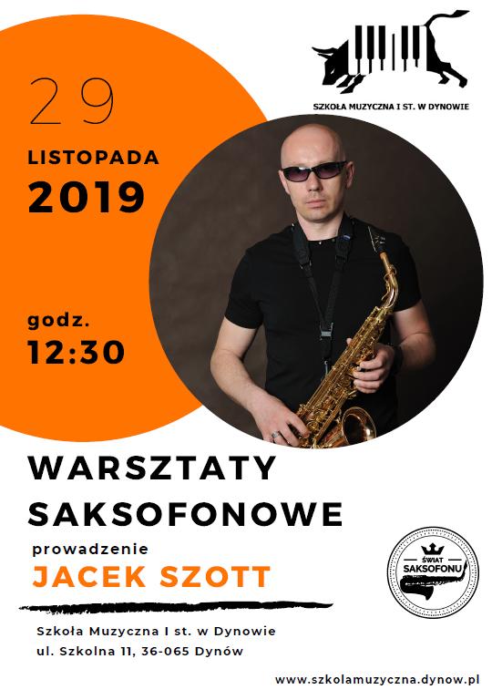 Zapraszamy wszystkich zainteresowanych na warsztaty saksofonowe 🎷  29 listopada godz. 12.30