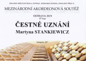 Sukces akordeonistów na Międzynarodowym Konkursie Akordeonowym w czeskiej Ostrawie!!!