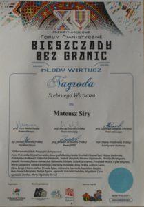 Kolejny Międzynarodowy sukces Mateusza Sirego !!!