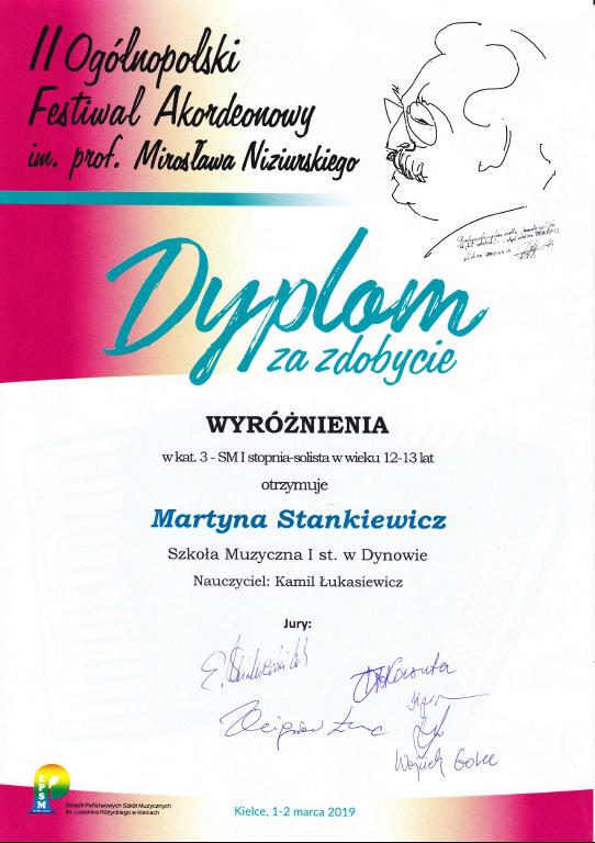 Sukces Akordeonistów na Ogólnopolskim Konkursie w Kielcach